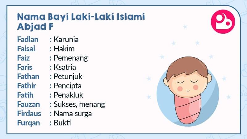 nama bayi laki-laki islami - huruf f