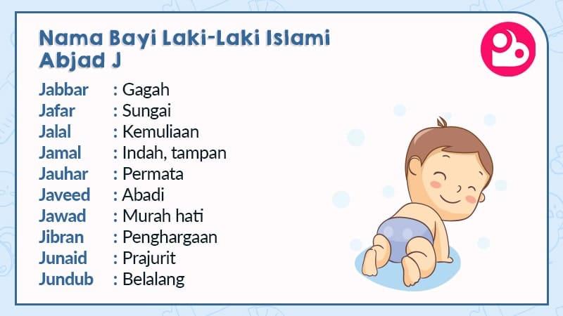 nama bayi laki-laki islami - huruf j