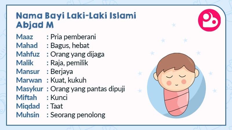 nama bayi laki-laki islami - huruf m