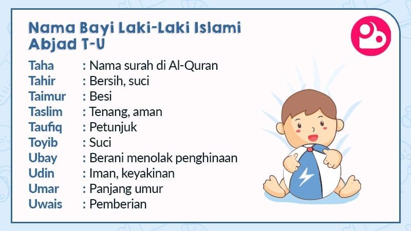 nama bayi laki-laki islami - huruf t & u